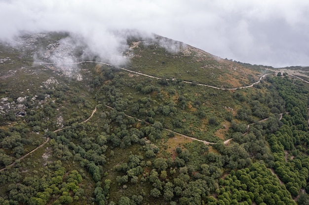 Piornal extremadura spain 근처의 산악 풍경