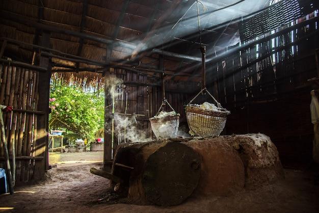 Mountainous salt ,ancient salt at amphoe bo kluea