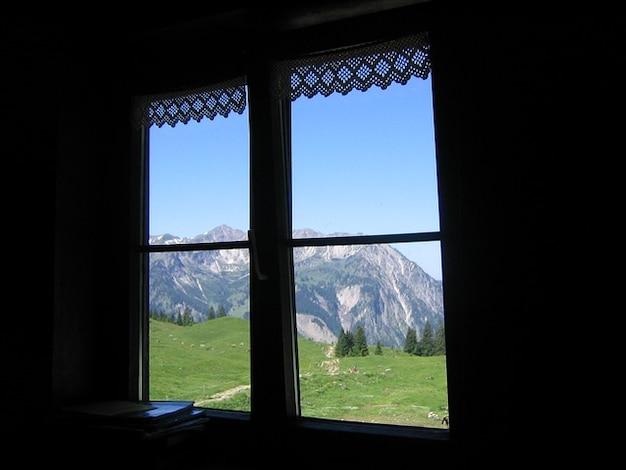 Mountains allgu window meadow alpe alm