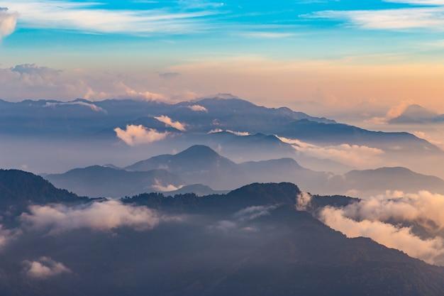 Mountains and beautiful nature in hehuanshan taiwan