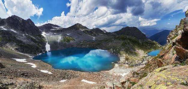 Mountains of caucasus range arkhyz, sofia lake
