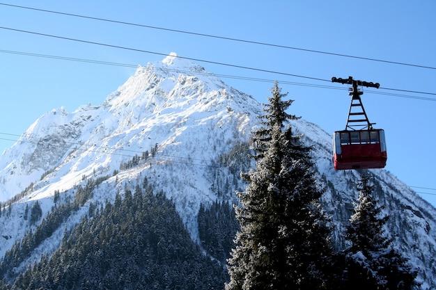 In the mountains of dombai, caucasus