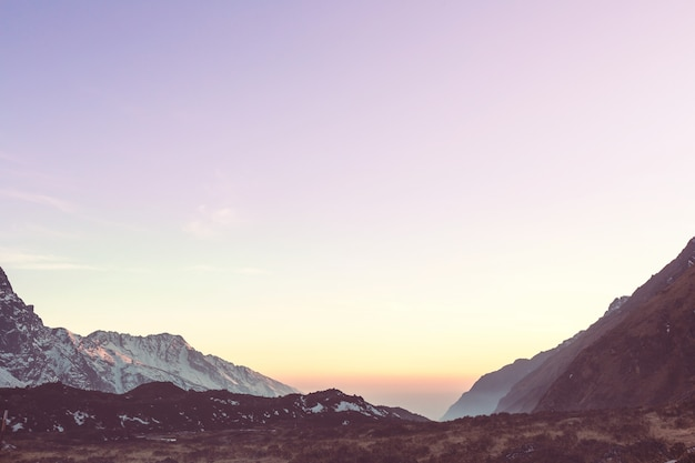 히말라야 사가르 마타 지역의 산
