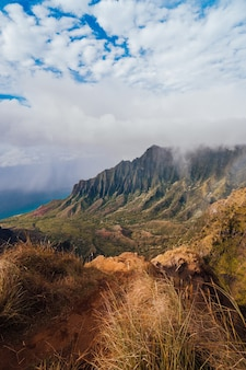 Mountains in the kokeʻe state park in hawaii