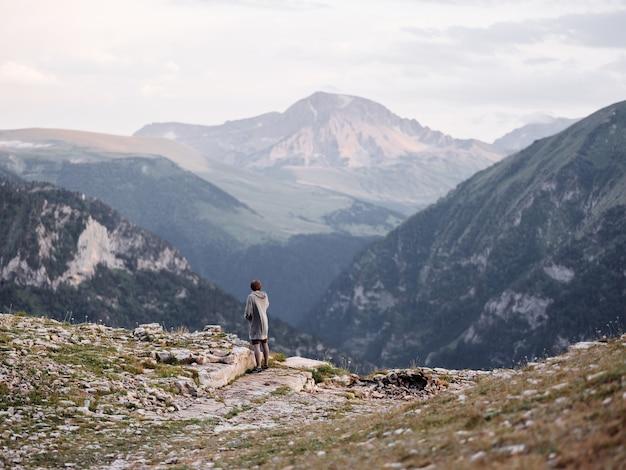 山の風景旅行アドベンチャーアクティブな休息