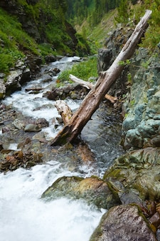 Mountains landscape with stream