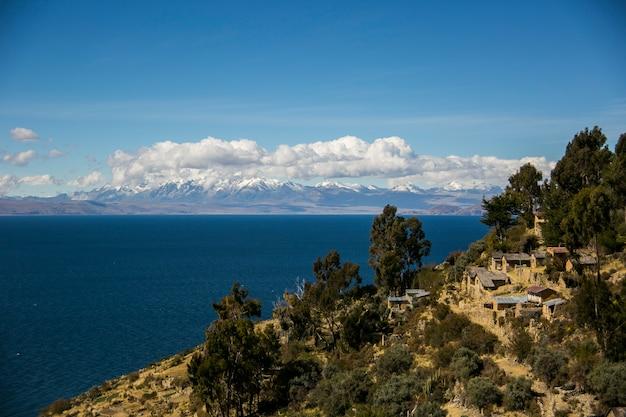 コルディレラレアル、アンデス、ボリビアからの山の風景