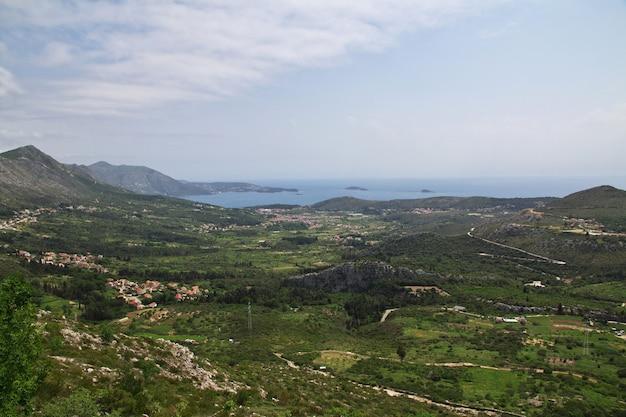 The mountains of montenegro, the adriatic coast