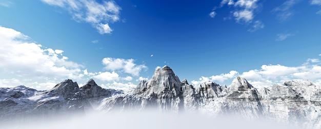 山のパノラマ
