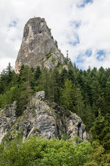 The mountains peak of the altar of bicaz canyon