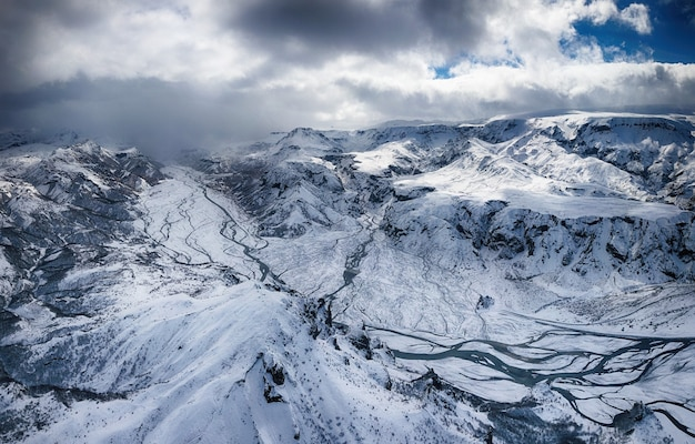 Mountains and snowfield