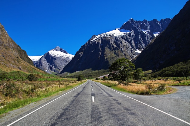 Mountains of south island, new zealand