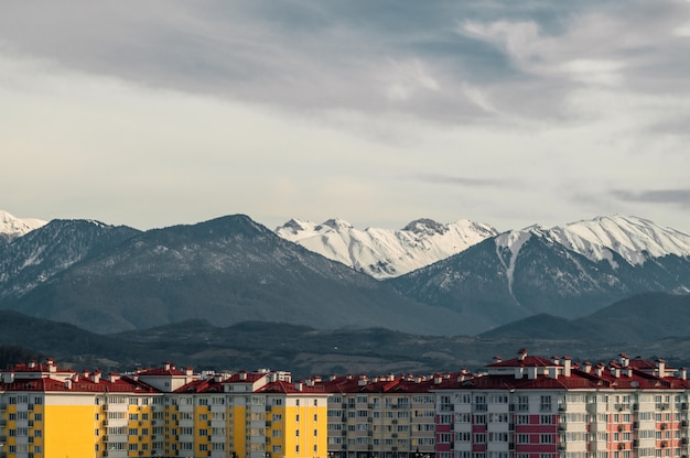 Mountains winter snow