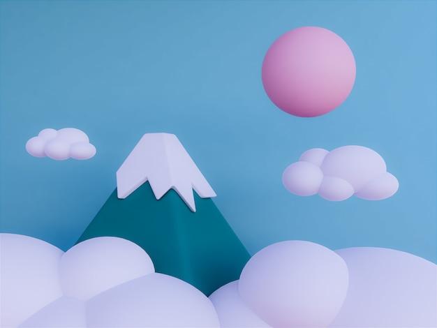 空の背景を持つ山々
