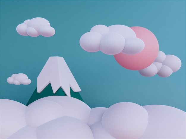 Mountains with skyscape background