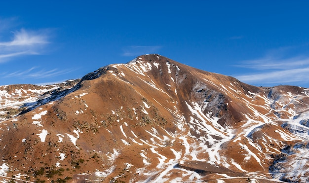 Mountains with snow - pyrenees