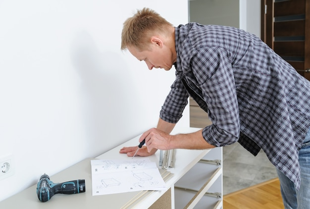 Mounting the chest of drawers looking for an instruction for furniture assembly