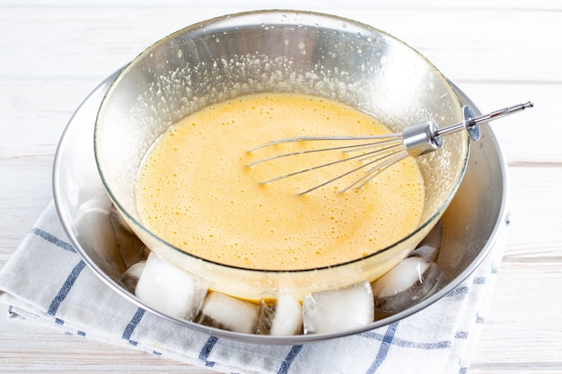 シーバックソーンベリーのムース。シーバックソーンのゼリー。 seabucktorn-料理