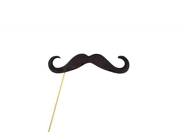 Moustache  stick (isolated on white)