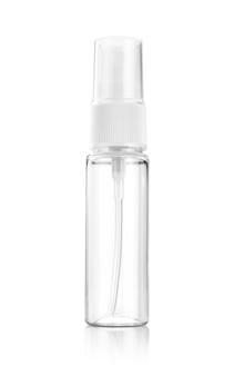 Mouth spray transparent plastic bottle for product design mock-up