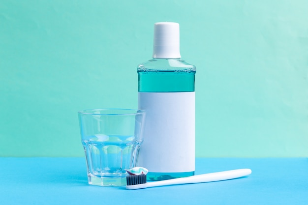 Mouthwash and toothbrush for healthy care oral cavity