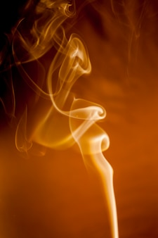 Movement of gold smoke.
