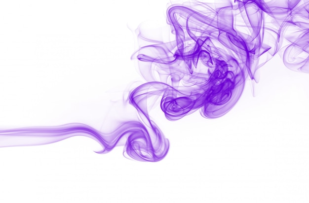 Movement of purple smoke abstract