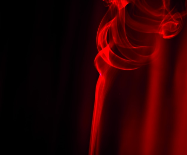 Movement of smoke abstract on black background