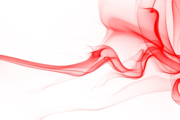 Movement of smoke abstract on white background