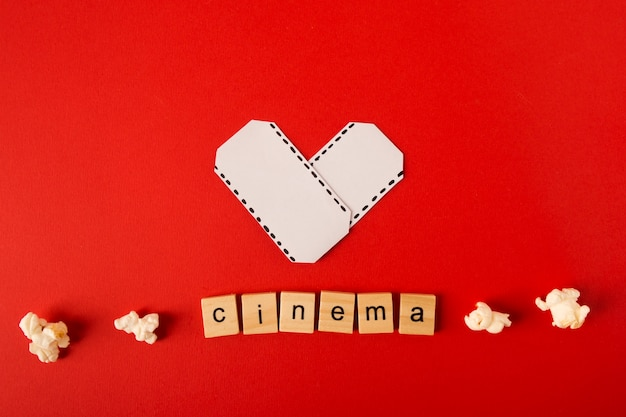 Movie arrangement with cinema lettering