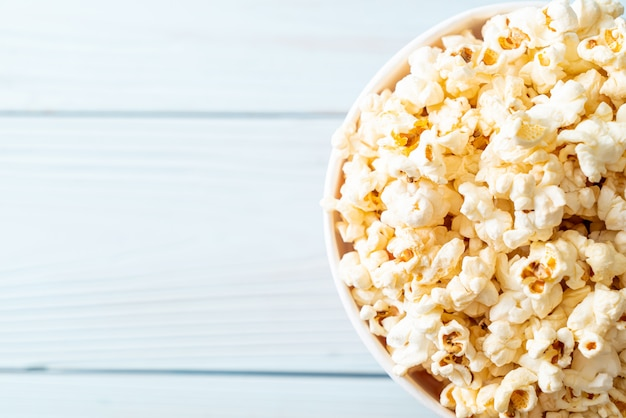 Movie popcorn in bucket