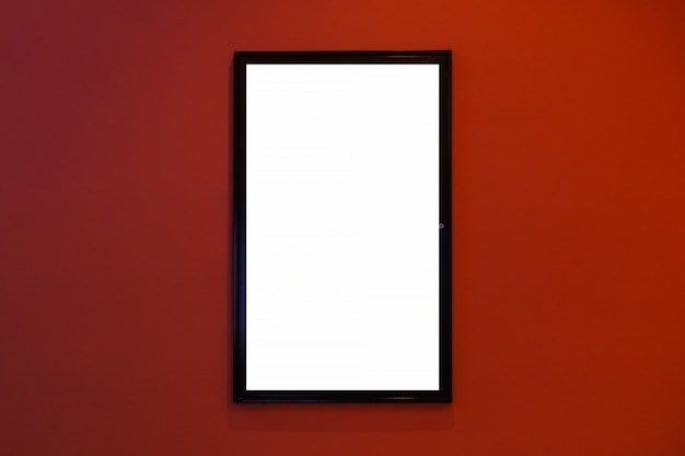 Movie poster cinema light box or display frame cinema lightbox or billboards with white blank space