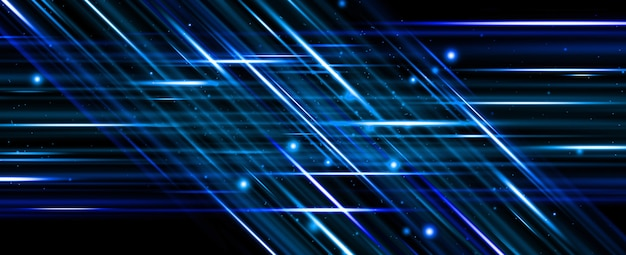 Moving light line colored lines modern abstract background neon light trendy geometry for fast motion Premium Photo