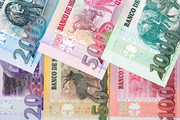 Mozambican money - metical a business