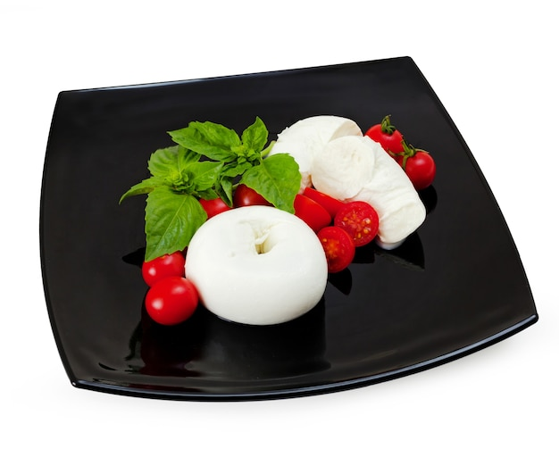 Mozzarella di bufala donuts, typical dairy product of the campania region of southern italy.
