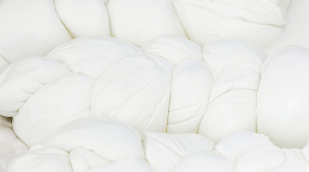 Mozzarella di bufala typical dairy product of the campania region of southern italy.