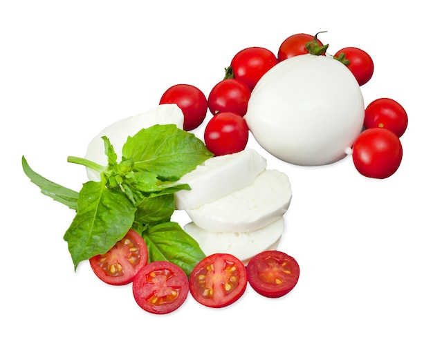 Mozzarella di bufala, typical dairy product of the campania region of southern italy.