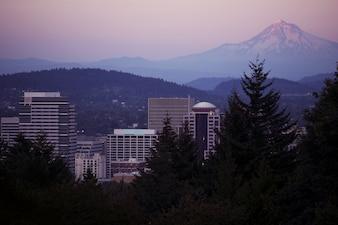 Mt Hood and Portland
