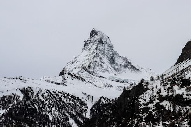 Mt.matterhorn, the famous landmark of zermatt, switzerland