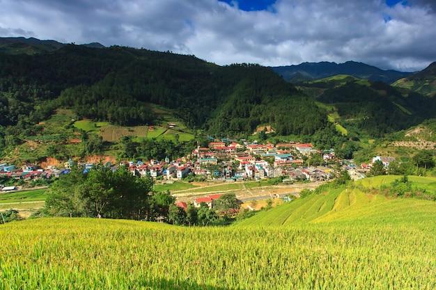 Рисовые поля на террасе mu cang chai