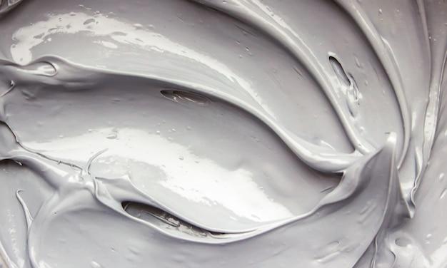 Грязевая маска глины с минералами мертвого моря. текстура. выборочный фокус.