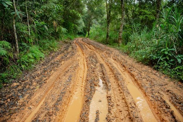 Mud road it's wet