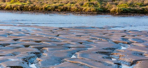 泥のテクスチャ、チャネルのある川