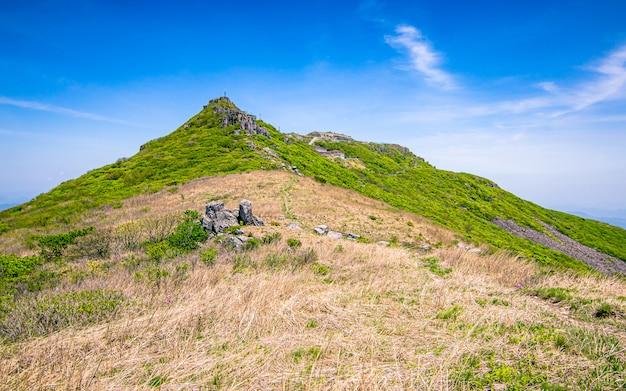 Красивый вид горы mudeungsan национальный парк кванджу, южная корея.