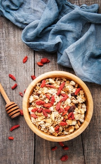 Muesli with goji berries