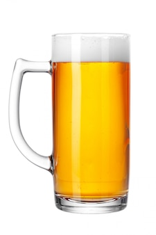 Mug of beer isolated on white