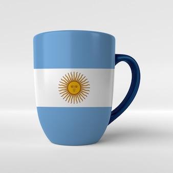 Mug with argentina flag