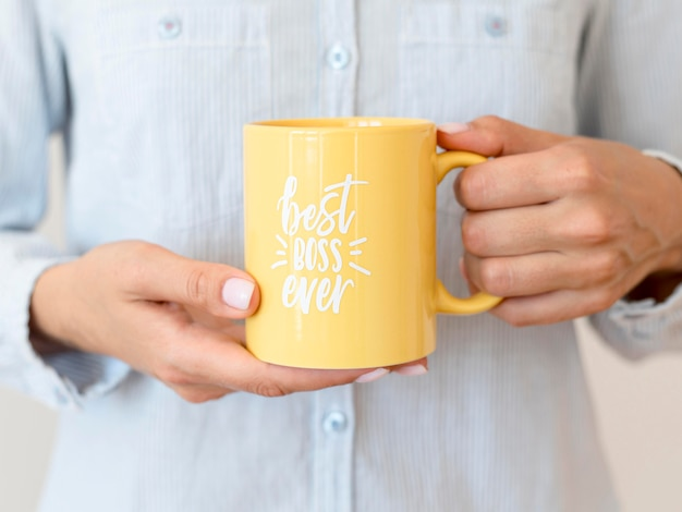 Mug with best boss ever message