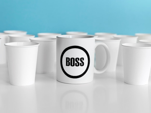 Mug with boss text