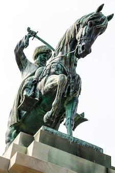 그리스의 무하메드 알리 파샤 청동 조각